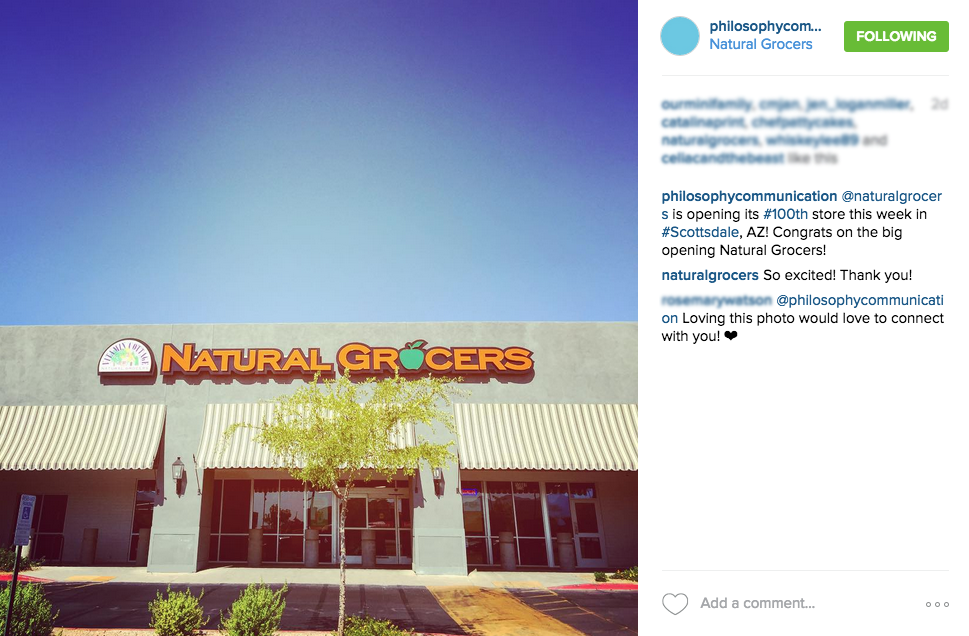 Natural Grocers - Philosophy Communication
