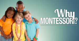 Montessori Children's House of Denver ad with a group of happy children