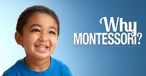 Montessori Children's House of Denver ad with a single smiling child