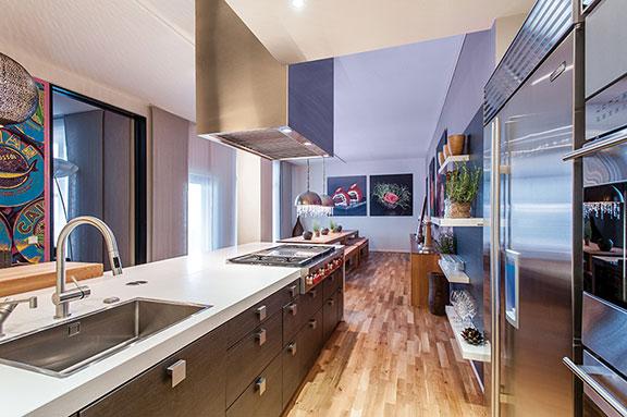 Sub-Zero refrigerator in a luxury kitchen