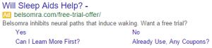 Will Sleep Aids Help? Google Search Ad
