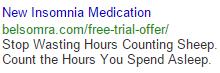 Insomnia medication ad attempt 3