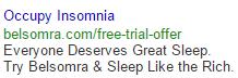 occupy insomnia google search ads